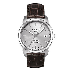Men's Tissot brown leather  strap watch - Product number 8893780