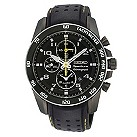 Seiko men's black ion plated chronograph watch - Product number 8895236