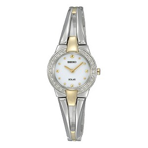 Seiko ladies' two colour stone set bracelet watch - Product number 8895430