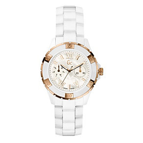 Gc Sport Class XL-S Glam ladies' white ceramic watch - Product number 8895872