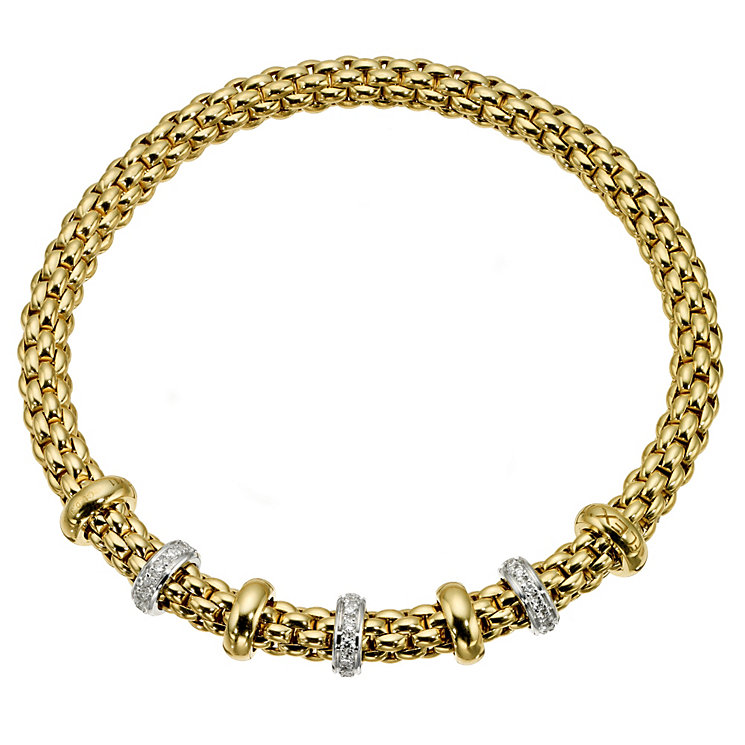 Fope 18ct yellow gold and diamond bracelet - Product number 8901651