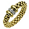 Fope 18ct yellow gold and diamond ring - Product number 8901686