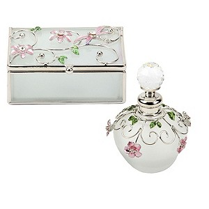 Pink Flower Perfume Bottle & Trinket Box - Product number 8902119