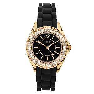 Ladies' Sekonda Black Strap Watch