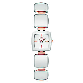 Roamer Odeon ladies' white ceramic & rose gold watch - Product number 8904952