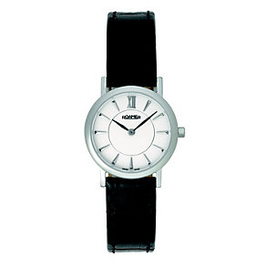 Roamer ladies' black strap white dial watch - Product number 8905002