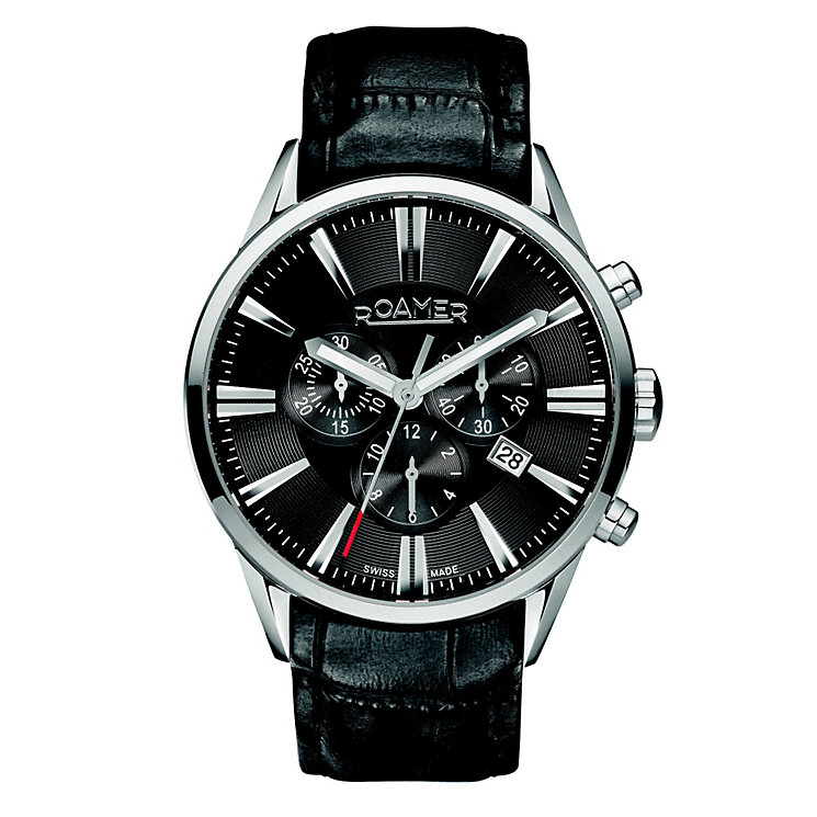 Roamer men's black dial & strap watch - Product number 8905126