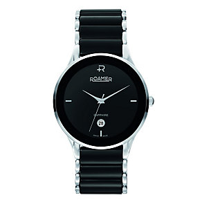 Roamer men's stainless steel & black ceramic watch - Product number 8905207