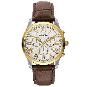 Roamer men's stainless steel & gold plated strap watch - Product number 8905274