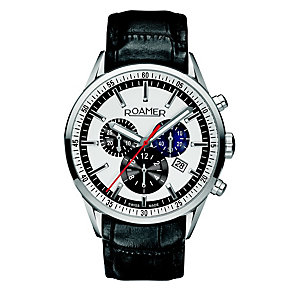 Roamer men's black strap chronograph watch - Product number 8905991