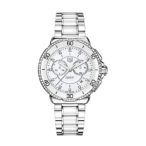 Tag Heuer Formula 1 Ladies steel & ceramic diamond set watch - Product number 8906378