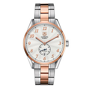 TAG Heuer Carrera stainless steel & rose gold plated watch - Product number 8908257
