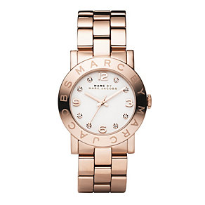 Marc Jacobs ladies' gold plated bracelet watch - Product number 8908850