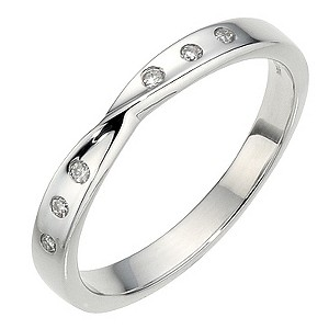 9ct White Gold Diamond Twist Band - Product number 8910812