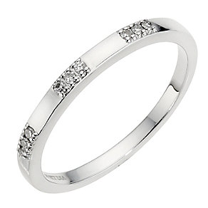 9ct White Gold Diamond Band 2mm - Product number 8912637