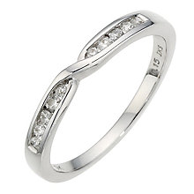 9ct White Gold Diamond Twist Band - Product number 8913048