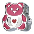 Children's Sterling Silver Pink Enamel Teddy Bead - Product number 8917086