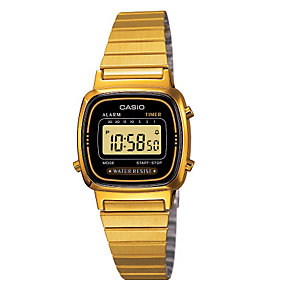 Casio Ladies' Gold Plated Bracelet Watch - Product number 8917469