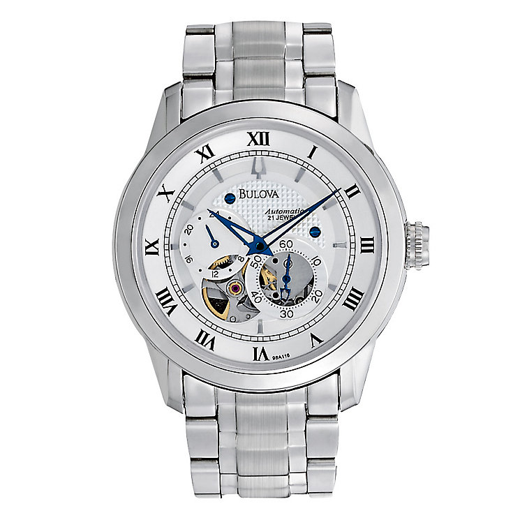 Men's Bulova Stainless Steel Bracelet Watch - Product number 8917728
