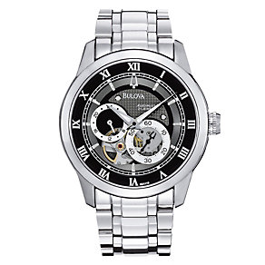 Men's Bulova Stainless Steel Bracelet Watch - Product number 8917868