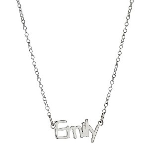 "Children's Sterling Silver Emily Name Necklace 14"" - Product number 8917914"