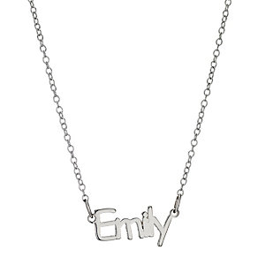 Children's Sterling Silver Emily Name Necklace 14