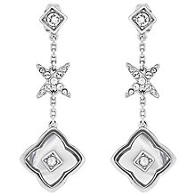 Adore Ladies' Rhodium Floret Linear Earrings - Product number 8919739