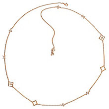 Adore Ladies' Rose Gold Plated Floret Long Rope Necklace - Product number 8919917