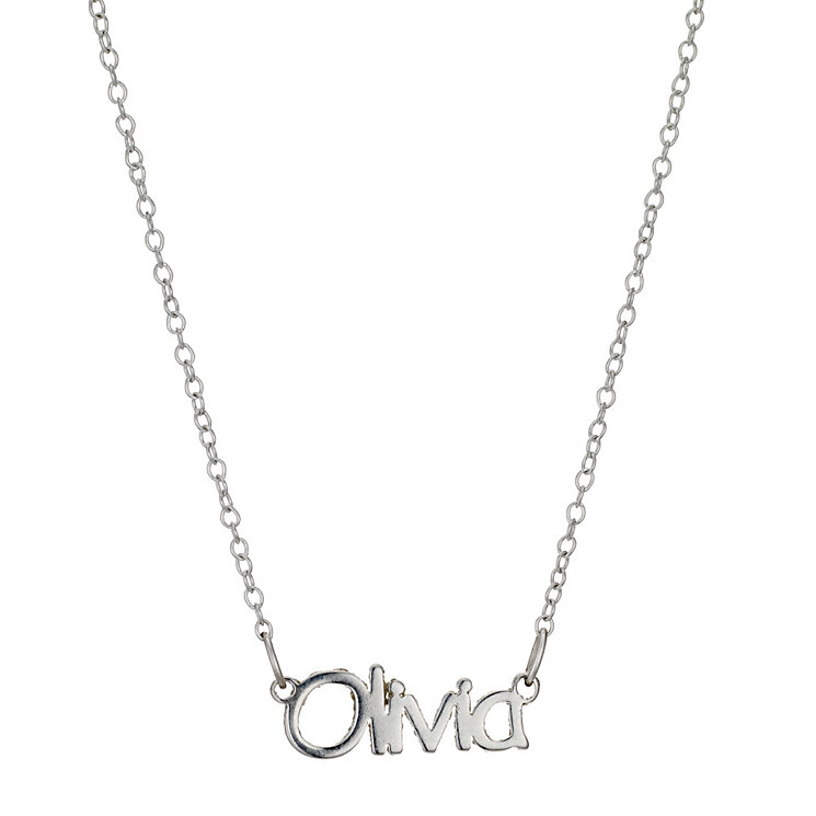 "Children's Sterling Silver Olivia Name Necklace 14"" - Product number 8920168"