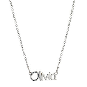Children's Sterling Silver Olivia Name Necklace 14