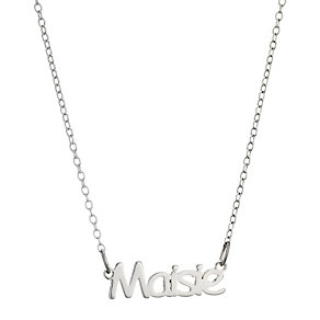 Children's Sterling Silver Maisie Name Necklace 14