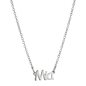 Children's Sterling Silver Mia Name Necklace 14