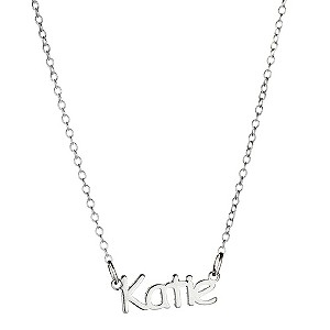 Childrens Sterling Silver Katie Name