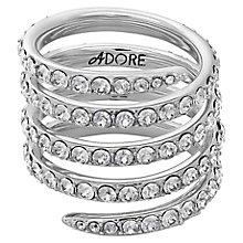 Adore Ladies' Rhodium Coil Ring Size Small - Product number 8920362