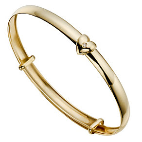 Children's 9ct Yellow Gold Diamond Bangle - Product number 8920540