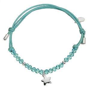 Children's Silver Blue Cord Crystal Bracelet - Product number 8920591