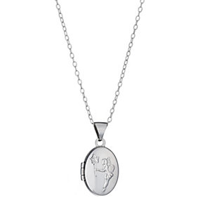 Children's Silver Fairy Oval Locket - Product number 8920710
