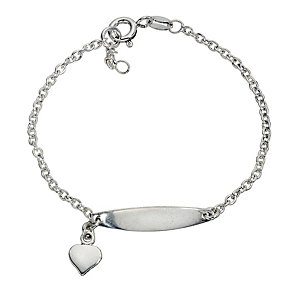 Children's Silver Heart Bracelet - Product number 8920729