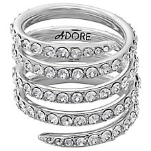 Adore Ladies' Rhodium Coil Ring Size Medium - Product number 8921059