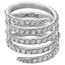 Adore Ladies' Rhodium Coil Ring Size Large - Product number 8921067