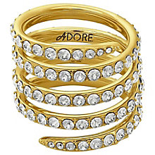 Adore Ladies' Yellow Gold Plated Coil Ring Size Medium - Product number 8921083