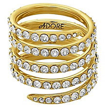 Adore Ladies' Yellow Gold Plated Coil Ring Size Large - Product number 8921091