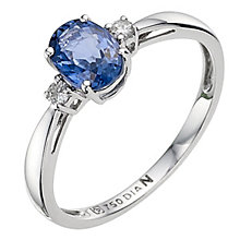 18ct white gold sapphire and diamond ring - Product number 8925690