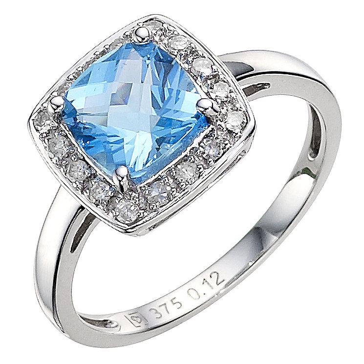 9ct white gold blue topaz ring ernest jones