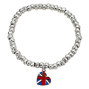 Children's Sterling Silver Stretch Pendant Bracelet - Product number 8929238