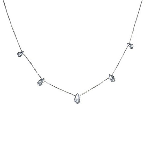 9ct white gold 0.33 carat diamond necklace