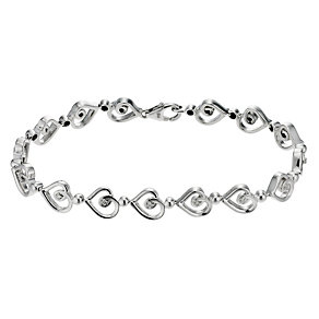 Love's Embrace silver heart bracelet - Product number 8930783