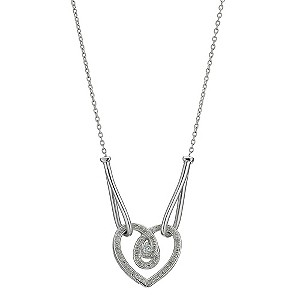 Love's Embrace silver diamond heart pendant - Product number 8930791