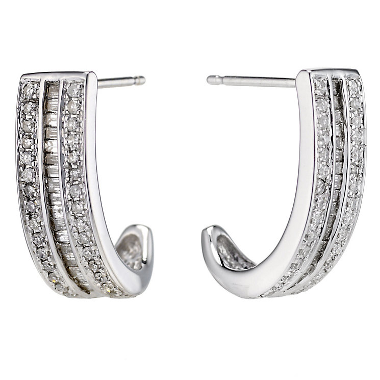 9ct white gold 0.50ct diamond earrings - Product number 8930929