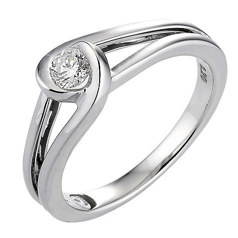 18ct white gold 0.33 carat diamond ring
